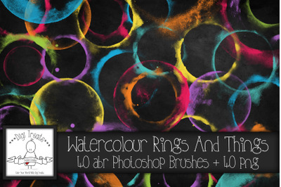 Watercolour Rings And Things PNG & Photoshop Brush Set.