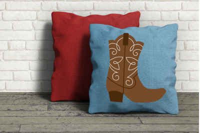 Fancy Western Boot | SVG | PNG | DXF