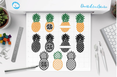 Pineapple SVG, Pineapples Monogram SVG,Pineapple Clipart, Summer.