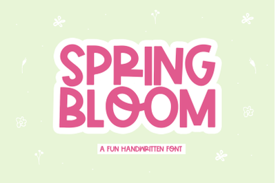 Spring Bloom - Fun Handwritten Font