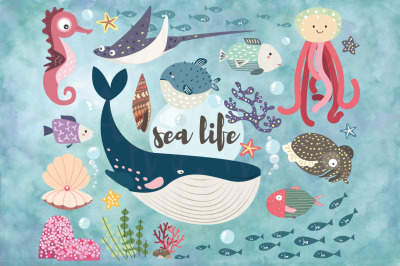 Cute Sea Life Collection Set