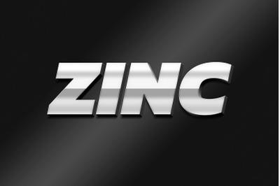 Zinc - 3D Text Style Effect PSD