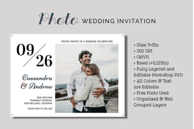 Photo Wedding Invitation