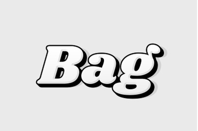 Bag - 3D Text Style Effect PSD