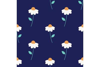 Daisy flowersseamless repeat pattern