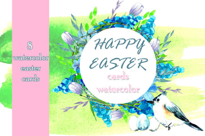 Easter cards watercolor