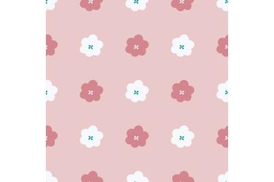 Pastel flowersseamless repeat pattern