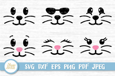 Bunny face svg, Easter svg, Bunny svg, Easter bunny svg file