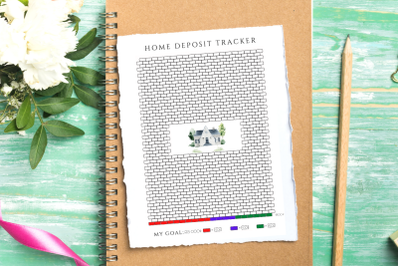 Mortgage Payoff Debt Tracker Progress Chart, Home Money Tracker
