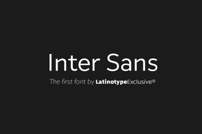Inter Sans (Promo Edition)