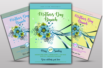 Mother day Brunch Flyer Template