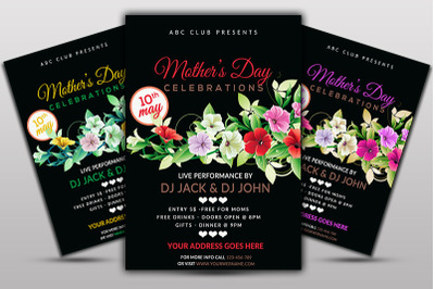 Mother's day CelebrationFlyer Template
