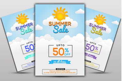 Elegant Summer Sale Flyer