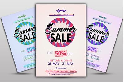 Flat Summer Sale Flyer
