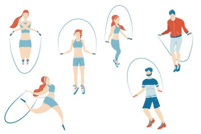 Sport activity series vector illustrations