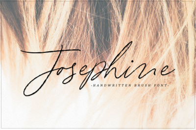 Josephine - handwritten brush font
