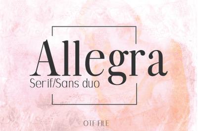 ALLEGRA: A Beautiful Font Duo