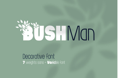 Bushman font set