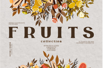 Fresh Collection. Fruits & Leaves