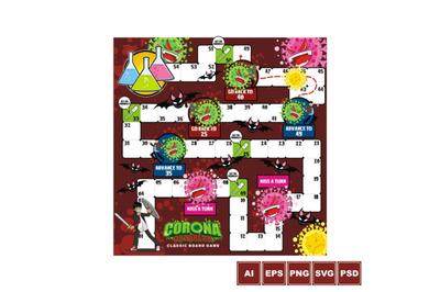 Battle Against Corona Virus - Board Game Design
