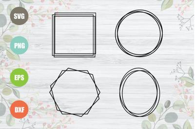 Geometric Frames SVG Bundle