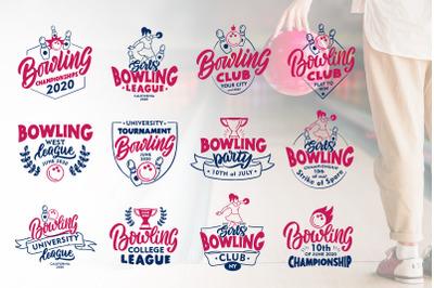 Set of logo Bowling