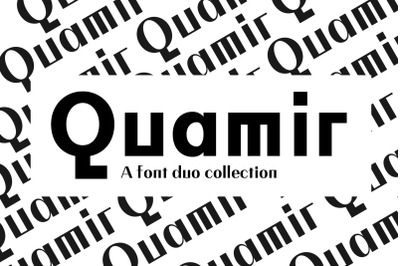 QUAMIR: A Display Font Duo