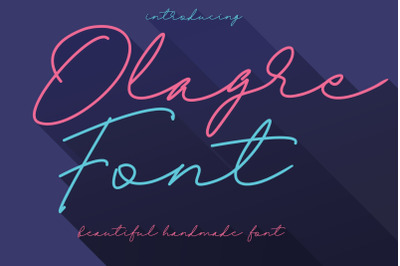 Olagre Beautiful Handmade Font