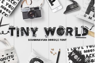 Tiny World! Scandinavian Doodle Font