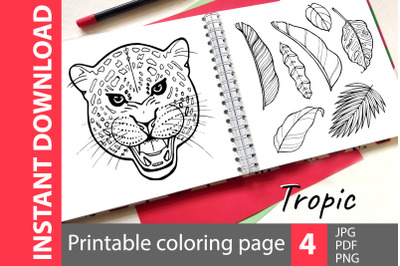 Tropic - coloring book pages