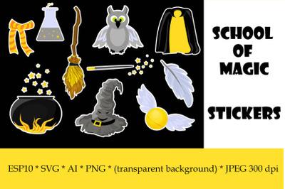 School of Magic Stickers