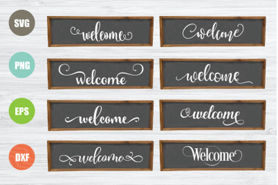 Welcome Sign SVG Bundle