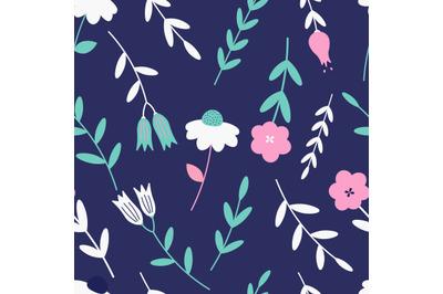 Wildflowersseamless repeat pattern