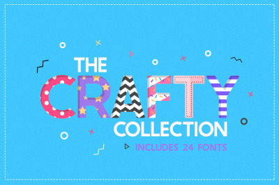 The Crafty Font Collection (24 Fonts)