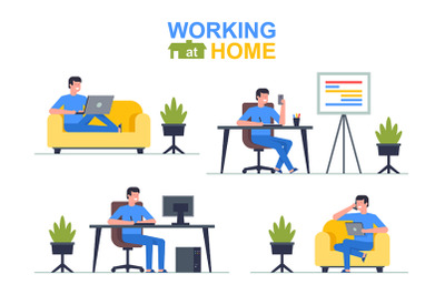 Working at home (Men)