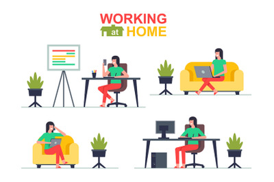 Working at home (Womans)