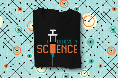 I Believe in Science Syringe | SVG | PNG | DXF | EPS