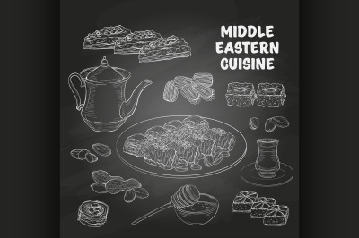 Arabic Food. Middle Eastern sweets and tea 6