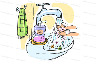 Handwashing with soap or hand hygiene