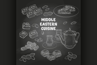 Arabic Food. Middle Eastern sweets and tea 9