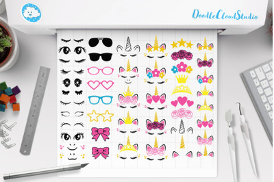 Unicorn SVG, Unicorn kit SVG, Unicorn Clipart