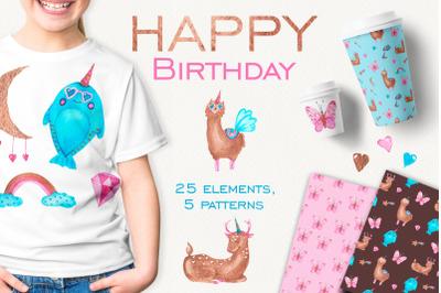 Happy birthday. Unicorns.