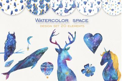 Watercolor space