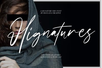 Hignatures Signature Brush Font