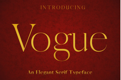 VOGUE - An Elegant Typeface