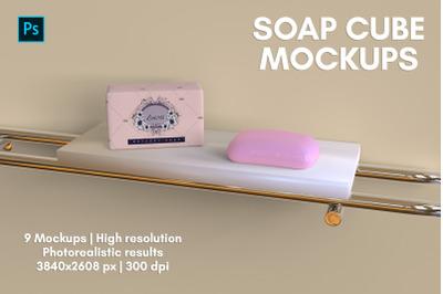Soap Cube Mockups - 9 Views