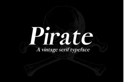 A pirate typeface