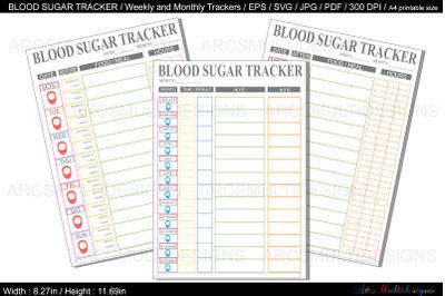 Blood sugar tracker / blood sugar planner