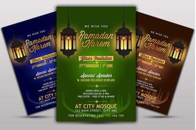 Iftaar Invitation Flyer Template