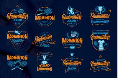 Set of Badminton logos